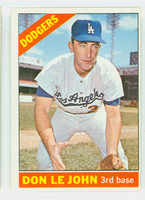 1966 Topps Baseball 41 Don LeJohn Los Angeles Dodgers Excellent to Excellent Plus