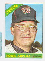 1966 Topps Baseball 46 Howie Koplitz Washington Senators Excellent to Excellent Plus