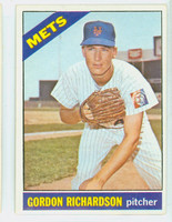 1966 Topps Baseball 51 Gordon Richardson New York Mets Excellent