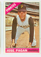 1966 Topps Baseball 54 Jose Pagan Pittsburgh Pirates Excellent