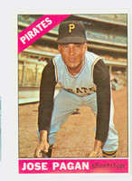 1966 Topps Baseball 54 Jose Pagan Pittsburgh Pirates Excellent to Mint