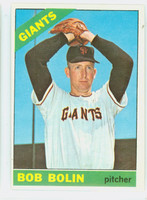 1966 Topps Baseball 61 Bob Bolin San Francisco Giants Excellent