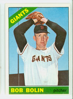 1966 Topps Baseball 61 Bob Bolin San Francisco Giants Excellent to Excellent Plus