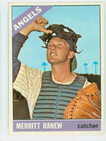 1966 Topps Baseball 62 b Merritt Ranew SOLD  California Angels Excellent