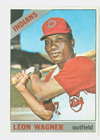 1966 Topps Baseball 65 Leon Wagner Cleveland Indians Near-Mint