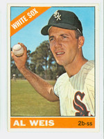 1966 Topps Baseball 66 Al Weis Chicago White Sox Excellent to Mint