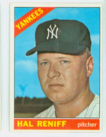 1966 Topps Baseball 68 Hal Reniff New York Yankees Excellent