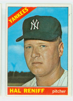 1966 Topps Baseball 68 Hal Reniff New York Yankees Excellent to Excellent Plus
