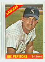 1966 Topps Baseball 79 Joe Pepitone New York Yankees Excellent to Excellent Plus