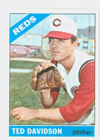 1966 Topps Baseball 89 Ted Davidson Cincinnati Reds Excellent to Mint