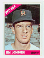 1966 Topps Baseball 93 Jim Lonborg Boston Red Sox Excellent to Mint