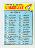 1966 Topps Baseball 101 Checklist Two 115 SPAHN  Excellent to Mint