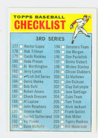 1966 Topps Baseball 183 Checklist Three LG PRINT  Excellent to Mint