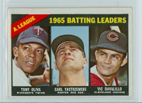 1966 Topps Baseball 216 AL Batting Leaders Very Good to Excellent