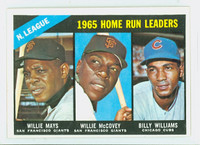 1966 Topps Baseball 217 NL HR Leaders Excellent to Mint