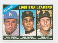 1966 Topps Baseball 221 NL ERA Leaders Excellent to Mint