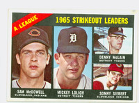 1966 Topps Baseball 226 AL Strikeout Leaders Good to Very Good