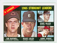 1966 Topps Baseball 226 AL Strikeout Leaders Very Good to Excellent