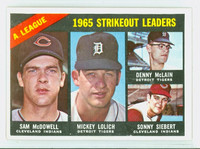 1966 Topps Baseball 226 AL Strikeout Leaders Excellent to Excellent Plus