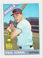 1966 Topps Baseball 376 Paul Schaal California Angels Excellent to Excellent Plus