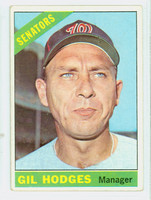1966 Topps Baseball 386 Gil Hodges Washington Senators Good to Very Good