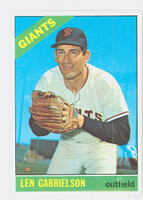 1966 Topps Baseball 395 Len Gabrielson San Francisco Giants Excellent to Mint