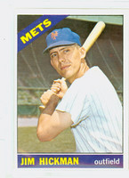 1966 Topps Baseball 402 Jim Hickman New York Mets Excellent to Mint