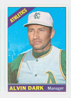1966 Topps Baseball 433 Alvin Dark Kansas City Athletics Excellent to Mint