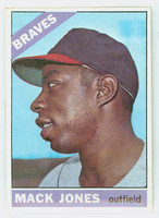 1966 Topps Baseball 446 Mack Jones Atlanta Braves Excellent to Excellent Plus
