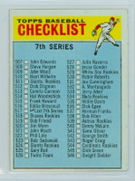 1966 Topps Baseball 517 b Checklist Seven Semi High Number WHITE SOX  Excellent to Excellent Plus