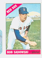 1966 Topps Baseball 523 Bob Sadowski High Number Boston Red Sox Excellent to Excellent Plus