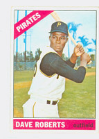 1966 Topps Baseball 571 Dave Roberts High Number Single Print Pittsburgh Pirates Good to Very Good