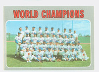 1970 Topps Baseball 1 Mets Team Excellent
