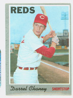 1970 Topps Baseball 3 Darrel Chaney Cincinnati Reds Very Good