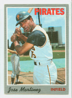 1970 Topps Baseball 8 Jose Martinez Pittsburgh Pirates Very Good to Excellent