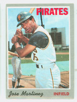 1970 Topps Baseball 8 Jose Martinez Pittsburgh Pirates Excellent