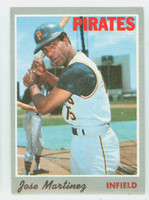1970 Topps Baseball 8 Jose Martinez Pittsburgh Pirates Excellent to Excellent Plus