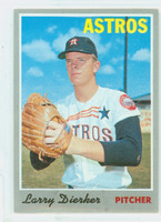 1970 Topps Baseball 15 Larry Dierker Houston Astros Very Good to Excellent