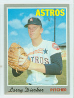 1970 Topps Baseball 15 Larry Dierker Houston Astros Excellent to Mint