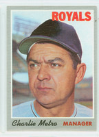 1970 Topps Baseball 16 Charlie Metro Kansas City Royals Very Good to Excellent