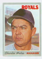 1970 Topps Baseball 16 Charlie Metro Kansas City Royals Near-Mint