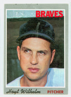 1970 Topps Baseball 17 Hoyt Wilhelm Atlanta Braves Good to Very Good