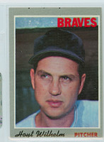 1970 Topps Baseball 17 Hoyt Wilhelm Atlanta Braves Very Good to Excellent