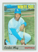 1970 Topps Baseball 18 Carlos May Chicago White Sox Excellent