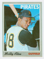 1970 Topps Baseball 30 Matty Alou Pittsburgh Pirates Excellent to Mint