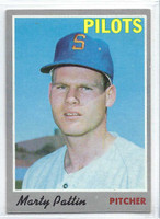 1970 Topps Baseball 31 Marty Pattin Seattle Pilots Excellent