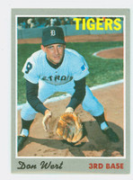 1970 Topps Baseball 33 Don Wert Detroit Tigers Excellent to Mint