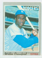 1970 Topps Baseball 34 Willie Crawford Los Angeles Dodgers Very Good to Excellent