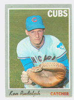 1970 Topps Baseball 46 Ken Rudolph Chicago Cubs Very Good to Excellent