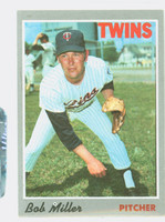1970 Topps Baseball 47 Bob L Miller Minnesota Twins Excellent to Excellent Plus